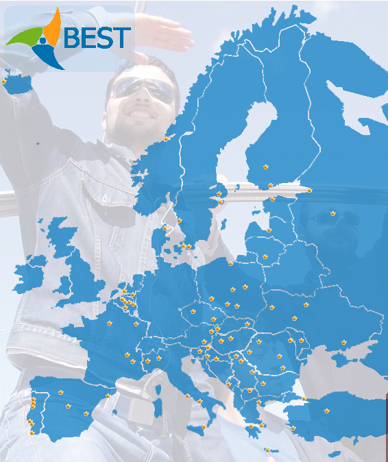 Map of BEST LBGs in Europe